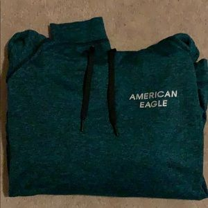 American Eagle hoodie, size s, green and black